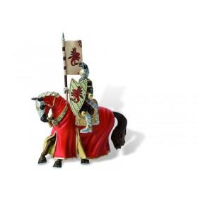 Cavaler cu cal pentru turnir, rosu - Bullyland