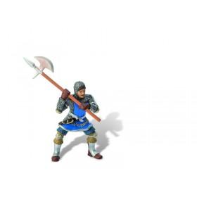 Cavaler cu topor si armura, albastru - Bullyland