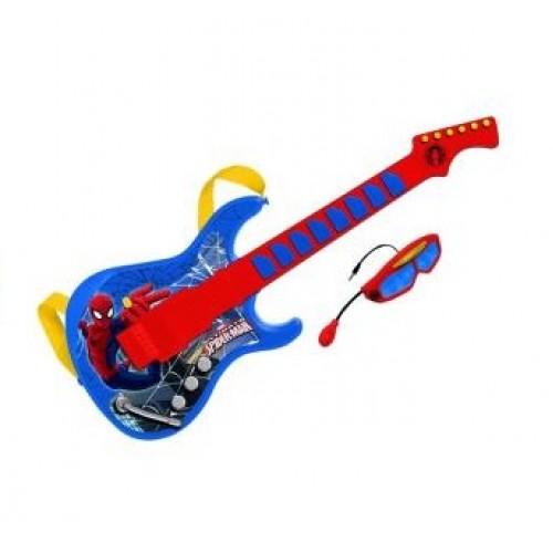 Chitara cu ochelari si microfon Spiderman - Reig Musicales