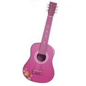 Chitara lemn (roz) - 65 cm