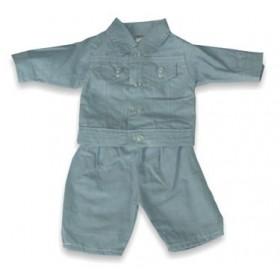 Set costum jeans pentru papusi 38 - 42 cm