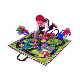 Covoras joaca si cutie jucarii copii