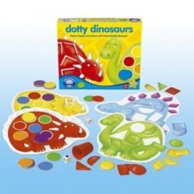 Joc Dinozaurii forme si culori - Dotty Dinosaurs - Orchard Toys
