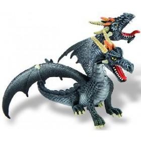 Dragon negru cu 2 capete - Bullyland