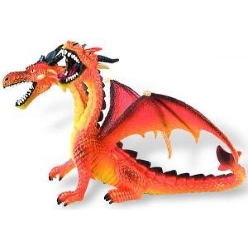 Dragon orange cu 2 capete - Bullyland