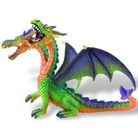 Dragon verde cu 2 capete - Bullyland