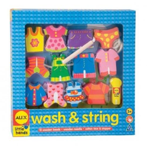 Insira hainutele / Wash and string