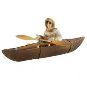 Inuit vanator cu kayak