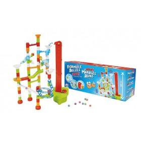 Joc de constructie - labirint mare cu bile - 92 piese + 20 bile - Buki