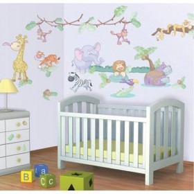 Kit Decor Walltastic - Baby Jungle Safari