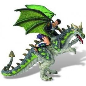 Luptator pe dragon verde - Bullyland.