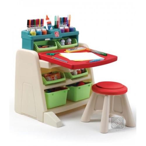 Masuta de lucru Flip & Doodlle Easel Desk - STEP2