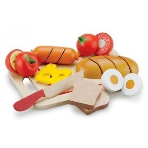 Platou cu diferite alimente New Classic Toys