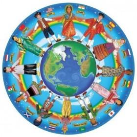 Puzzle Copii in jurul lumii - 48 piese
