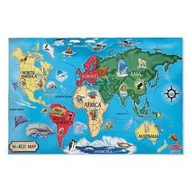 Puzzle de podea - Harta Lumii