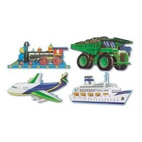 Puzzle de podea - Mijloace de transport