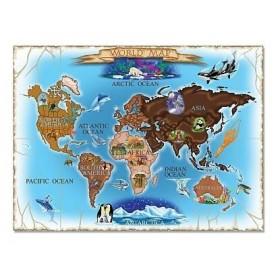 Puzzle harta lumii 500 piese / World Map