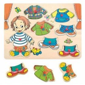 Puzzle Îmbrăcăm băiatul Woody