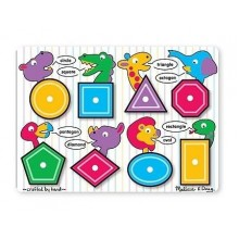 Puzzle lemn - Forme geometrice