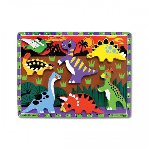 Puzzle lemn in relief - Dinozauri