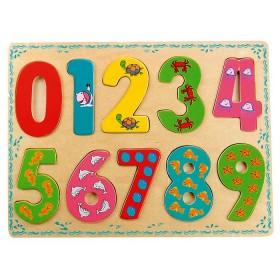 Puzzle din lemn - Numerele - Bino