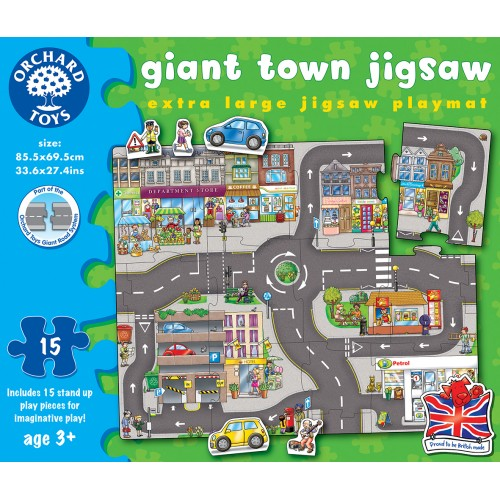 Puzzle podea Orasul - Giant Town Jigsaw - Orchard Toys