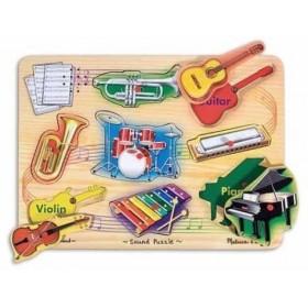 Puzzle sonor Instrumente muzicale natur