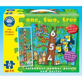 Puzzle Unu, doi, trei - One, two, tree - Orchard Toys