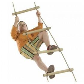 Scara franghie 2,40 m - Wooden rungs Rope Ladder - 5 trepte - KBT