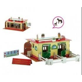 Set 1 Grajd de cai + 2 figurine cai incluse