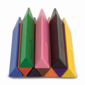 Set 10 creioane groase triunghiulare