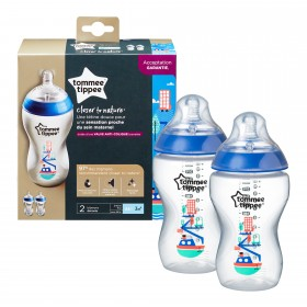 Set 2 biberoane decorate 340 ml Tommee Tippee Closer to Nature PP