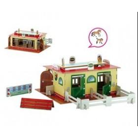 Set 2 Grajd de cai + 2 figurine cai incluse