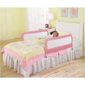 Set 2 protectii pliabile pentru pat Pink