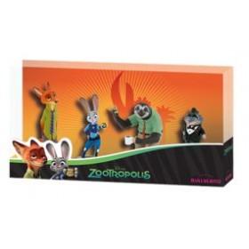 Set 4 figurine Zootropolis - Bullyland