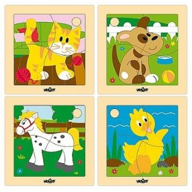 Set 4 puzzle animale