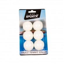 Set 6 mingi tenis de masă, albe - SportX***