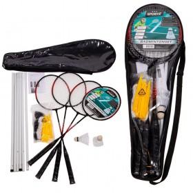 Set badminton 4 rachete, joc dublu, cu fileu si 3 fluturasi - SportX***