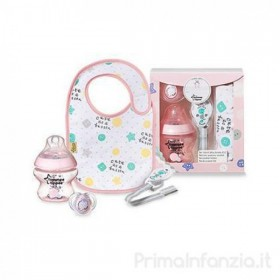 Set cadou 4 piese Tommee Tippee 0 luni+ - roz