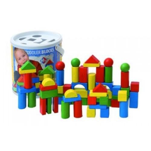 Set construcție color - 60 de piese - Woody