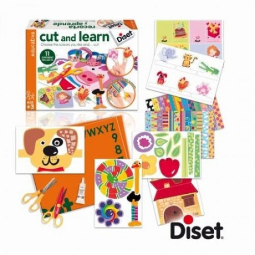 Set creativ Cut and learn - Decupeaza si invata - Diset