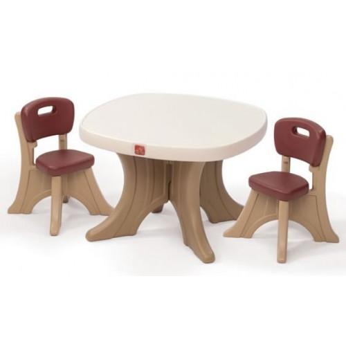 Set masuta + 2 scaune pentru copii STEP2