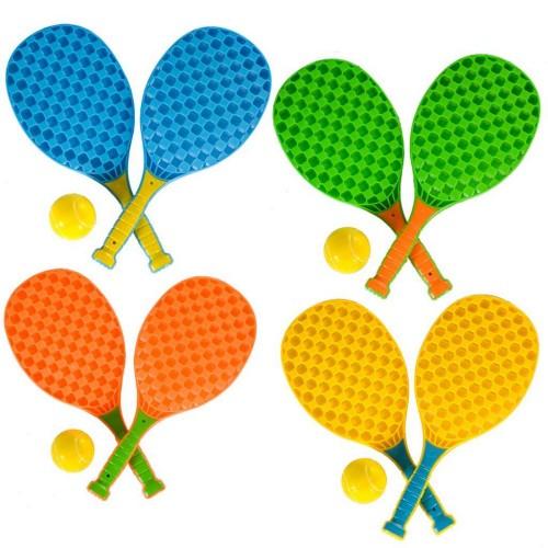 Set mini tenis pentru copii, cu 2 rachete şi o minge - Summertime