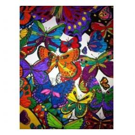 Set postere de colorat + 12 markere duble - Doodle Art