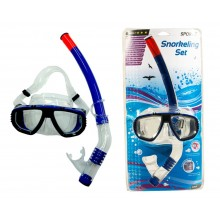 Set snorkeling adulti SportX Comfort, masca si tub, albastru