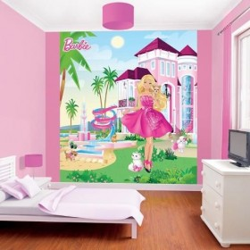 Tapet Walltastic - Barbie My Pink Palace
