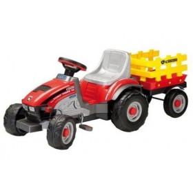 Tractoras Mini Tony Tigre cu remorca - Peg Perego