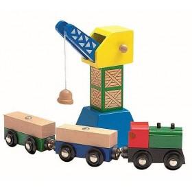 Tren si macara Woody