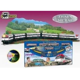 Trenulet electric calatori Cercanias Renfe - cu peisaj