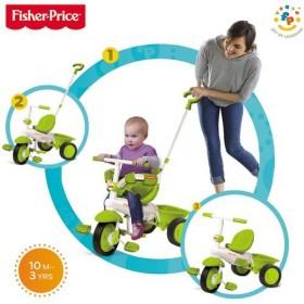 Tricicleta 3 in 1 Classic - verde